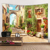 TW-05 Beautiful Ancient Architecture Print Hippie Wall Rug Hanging Big Couch Blanket
