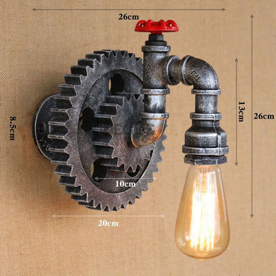 Vintage Iron wall lamps retro loft lights creative wall sconce bra