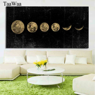 Big Size Eclipse of The Moon Wall Art Picture Canvas Art Painting