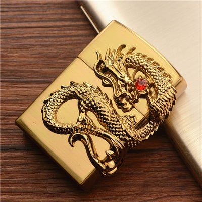 Dragon Lighter Methane Gas  Made From Metal Lighter For Cigar