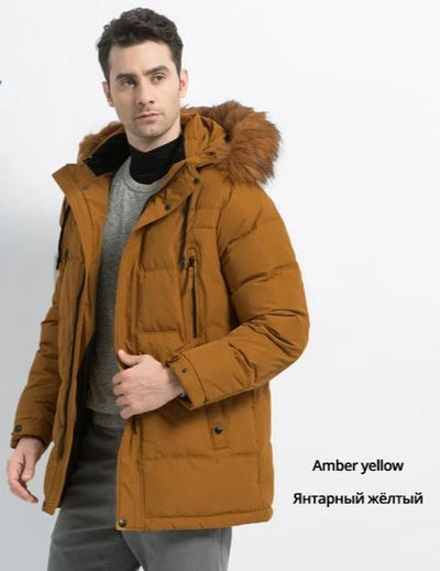 High Quality Men's Parkas Fashion Male Jacket Hooded Thick Warm