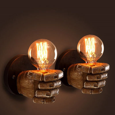 Wall Light Creative Fist Resin Wall Lamps Decoration 7.5X11cm  Cafe Wall Lamp E27 90V-260V