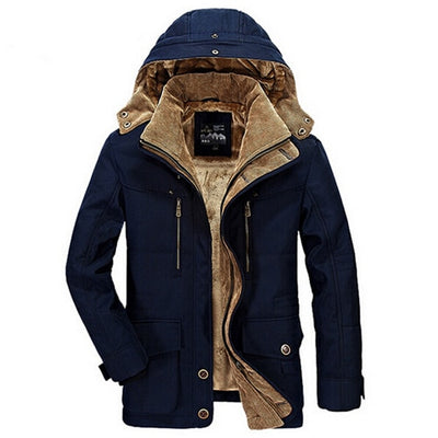 Parka Men Thicken Warm Cotton-Padded Jackets  Hooded