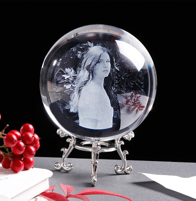 Ball Crystal Custom Personal Picture Photo for Gift