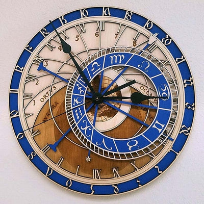 Creative wall clock Astronomical Wooden Clock