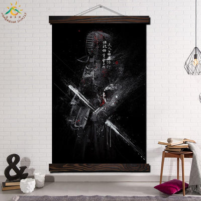 JS-06 Wall art Canvas Painting Japan Samurai Posters Bedroom Decoration Pictures Scroll Paintings on Canvas