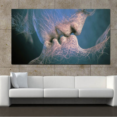 Tether of Love Kiss Abstract Art Canvas Painting For Living Room Wall Modern Canvas Art Prints Big Size