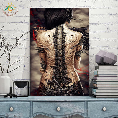 Fantasy Wall Art Canvas Assassin lady Modern Canvas Painting Wall Pictures