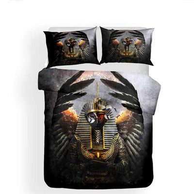3D Bedspread Black Gold Duvet Cover Bedding Sets