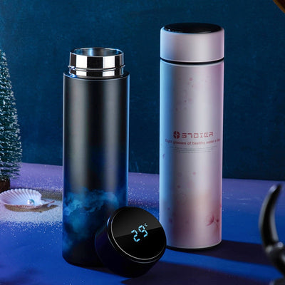 Thermos Flasks 450ml/Thermos Vacuum Flasks/Stainless Steel Water Bottle/Temperature Display