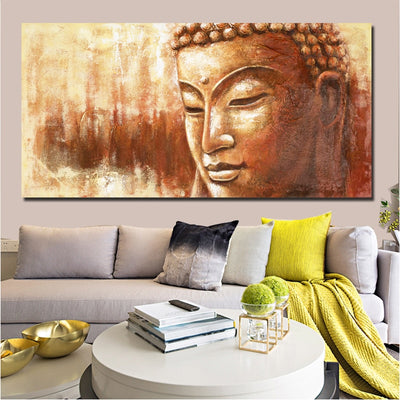 BD-04 Golden Buddha Poster Large Size Wall Print Canvas Pictures For Living Room Modern