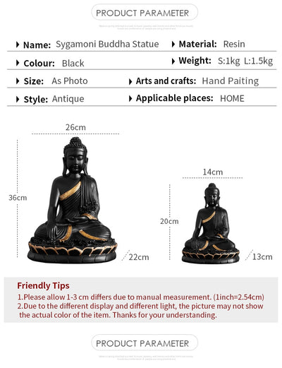 Large Resin Statuette Buddha figurine statue home decoration Have auspicious luck
