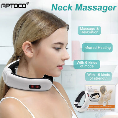 Electric Pulse Back and Neck Massager Tool