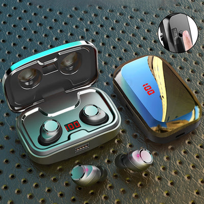 Wireless Headphones IPX7 Waterproof TWS 5.0 Bluetooth 9D Stereo