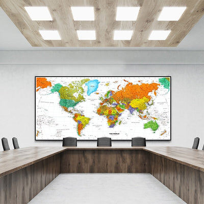 WC-02 Vintage HD Wall MAP Canvas Painting Poster  For Living Room Home decor