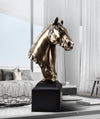RH-04 Gold Resin Head Horse Art Statue Sculpture