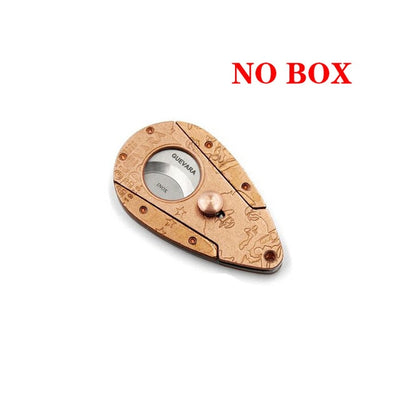 Cigar Cutter Stainless Steel Guillotine Double Cut Cigar Cutter Sharp knife with Gift Box