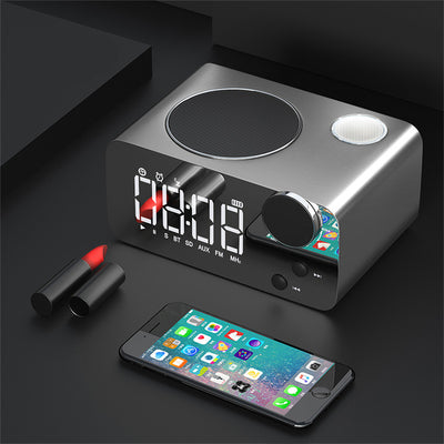 AC-05 Alarm Clock FM Radio Desktop Table Clock Bluetooth Speaker