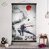 Dark Cool Ninja Wall Art Canvas Painting Poster Vintage Wall Art Pictures Home Decoration