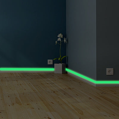 Glow in the dark DIY Strip Stickers Luminous band baseboard Wall Sticker living room bedroom Eco-friendly