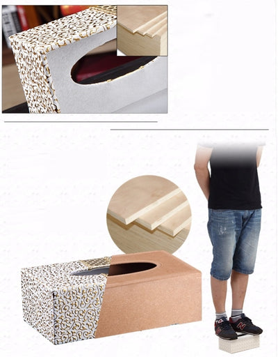 NEW PU Leather Car Home Rectangle Shaped Tissue Box  Fashion Elegant Household living Room Desktop