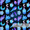 Magic Bedding Set Witchcraft Bedspread Moon Crystal Bottles Duvet Cover Psychedelic Bed Set 3pcs