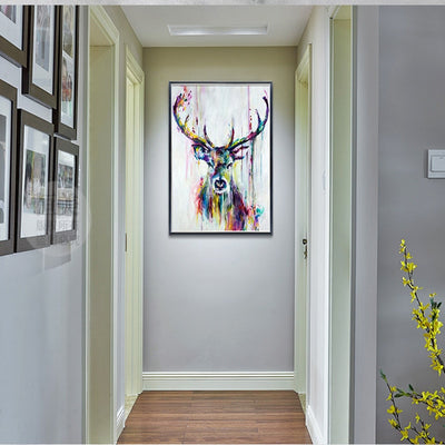 Colorful Deer Pictures ART Canvas Painting Nordic Animal Print Poster Wall Art for Living room Gallery