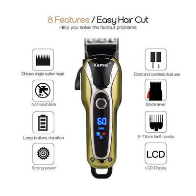HC-16 Hair Clipper Professional Hair Trimmer Rechargeable Electric Hair Cutter Shaving Machine