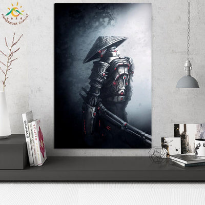 JS-18 Fantasy Samurai Warriors Wall Art Print Scroll Canvas Painting Wall Poster Pictures