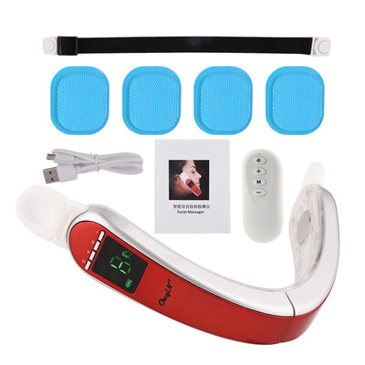 Facial Massage Electric Vibration Infrared Hot Compress V-Shape Slimming Facial Lifting