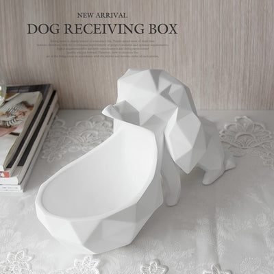 candy nut key phone storage box resin dog figurine home decoration accessories for living room table