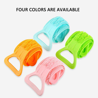 New 4 Color Magic Silicone Brushes Bath Towels Rubbing Back Mud