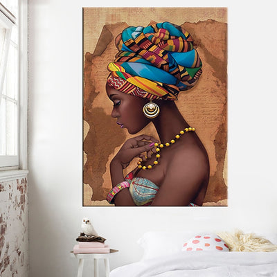 AF-01 Africa Canvas wall Art Painting Pictures Black Woman On canvas No Framed