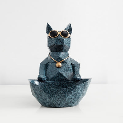 Cat Dog Collectible Modern Resin Craft Animal Office Decoration Cute Storage Bowl