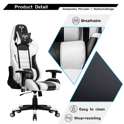 GC-16 Furgle Pro Gaming Chair Safe&Durable Office Chair Ergonomic Leather for WCG Game Chair