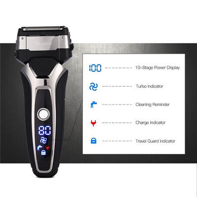 Electric Shaver Rechargeable 3D Floating Blade Beard Trimmer Men Washable Razor Professional Shaving Machine