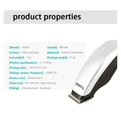 HCB-02 Newly Design Electric Hair Clipper Mini Portable Kid Hair Cutting