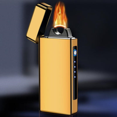 LT-41 New Creative Arc flame Windproof lighter USB charging Electronic lighter