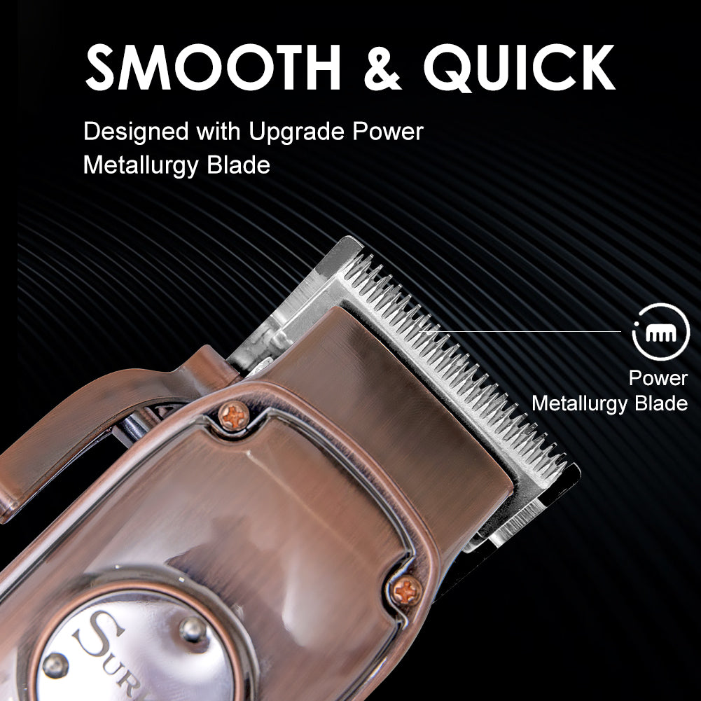 Hc 22 All Metal Barber Hair Clippers Rose Gold Professional Hair Trimm Oran Nay