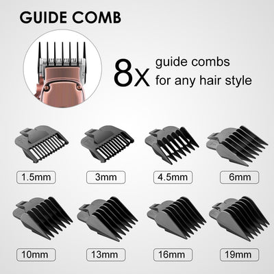 HC-22 All Metal Barber Hair Clippers Rose gold Professional Hair Trimmer Adjustable Hair Cut