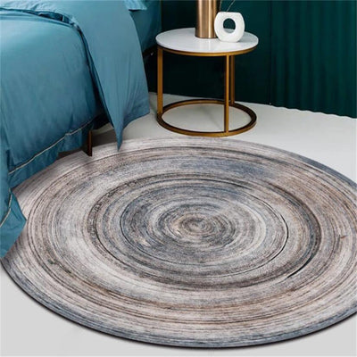 RC-08 Luxury Carpet With Annual Ring Printed Round Carpet For Living Room Decoration
