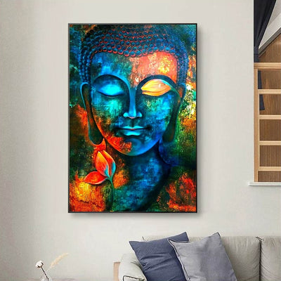 BD-06 Colorful Full Wall Art Painting Buddha Pictures For Living Room