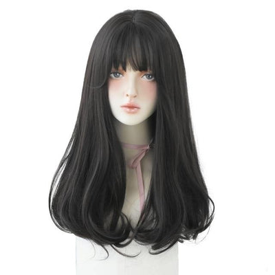 CW04 Cosplay Wigs Light Brown Wig For Women With Fringe Fashion Heat Resistant Mid-Length Synthetic Wig