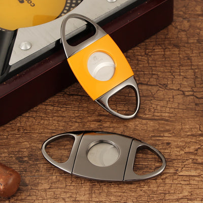Cigar Accessories Set Gas Lighter Windproof Jet Torch Cigar Lighter Metal Sharp Cigar Cutter