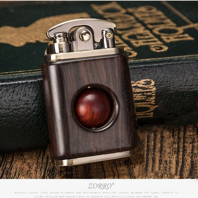 Kerosene lighter rosewood retro solid wood creative lighter wood high quality
