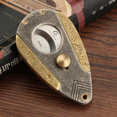 Stainless Steel Cigar Cutter Sharp Cigar Guillotine Scissors Portable Dual Blades Tobacco