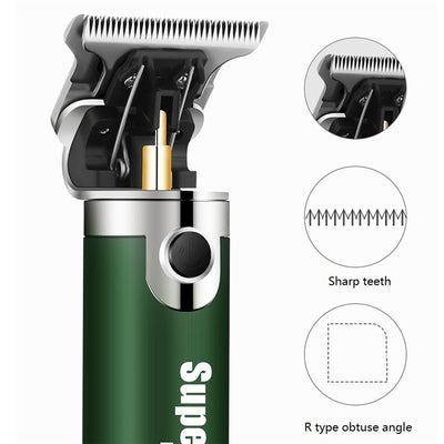 HC-40 USB Rechargeable Hair Clipper Electric hair trimmer Cordless Shaver Trimmer 0mm