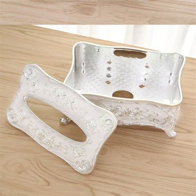 Acrylic Tissue Box Luxury European Table Accessories