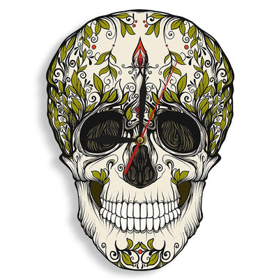 Day of the Dead Sugar Skull Wall Clock