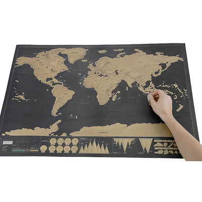 Sw-01 Wall Stickers World Travel Map Erase Off World Map Travel Scratch For Map 82.5x59.4cm Home Office Decoration